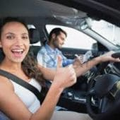 women gets new car and used car from Sydney Wide Car Brokers